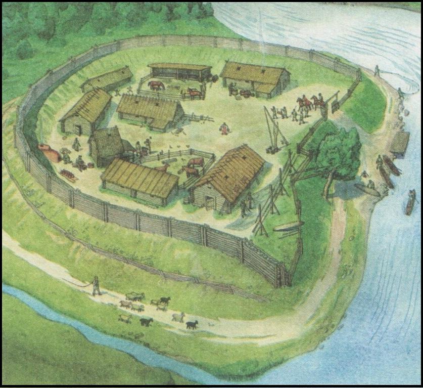 Реконструкция внешнего вида славянского поселения