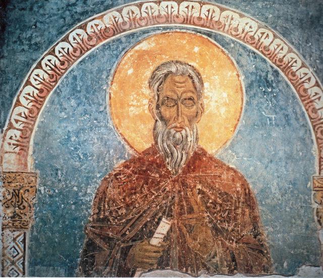 Фреска «Старец». Рождественский собор. 1233 г. Суздаль, Владимирская область.